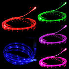 LED Charger Luminescent Visible Current Flow Smart Charger Sync Cable for iPhone