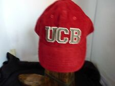 UNITED COLORS OF BENETTON GIRLS/BOY RED CORD CAP WITH VISOR SIZE XXS AGE 3-4