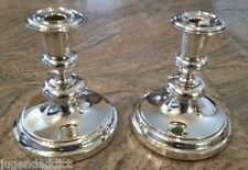 PAIR OF CHRISTOFLE FRANCE CANDLESTICKS ANTIQUE LARGE SILVER PLATED
