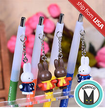 Lot 4 M&G Miffy Rabbit 0.5mm Mechanical Pencil Dangle Charm Figurine Cute Kawaii