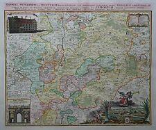Hassiae evitarse et Wetterau-regar en Hessen-Johann Bautista homann - 1746