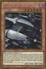 YU-GI-OH CARD: KOZMO DOG FIGHTER - GOLD SECRET RARE - PGL3-EN030 1ST EDITION