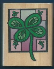 4 LEAF CLOVER Shamrock Quilt Frame CANADIAN MAPLE COLLECTION NEW RUBBER STAMP