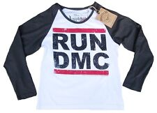 AMPLIFIED RUN DMC Logo Hip Hop Rap 80'er HipHop Star's Retro Langarm T-Shirt 38