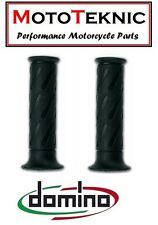 Suzuki GT100 Domino Road Monochrome Grips Black (Pair)