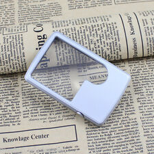 Pocket Ultra-thin Credit Card Reading Magnifier 3X/6X LED Light Magnifying Loupe