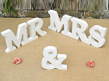 Wedding Reception Sign Solid Wooden Letters Mr & Mrs Table Centerpiece Decor 1x
