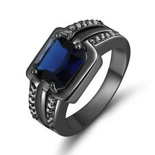 Jewellry Size 9 Blue Sapphire Wedding 10KT Gold Filled  Percious Rings For Men