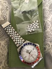 Alpha Watch Gmt Automatic White Dial Master Gmt Pepsi Bezel Homage Watch Pan Am