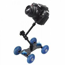 "Rolling track slider dolly voiture skater + 11"" bras magique pour dslr camera rig uk"