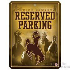 Wyoming Cowboys METAL Wall Novelty Parking Sign University of