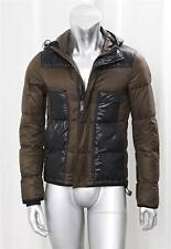 BALENCIAGA Mens Brown Puffer Quilted Hooded Down Long-Sleeve Jacket Coat 46/36/S