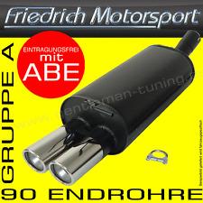 FRIEDRICH MOTORSPORT AUSPUFF VW SCIROCCO 2 1.3L 1.5L 1.6L 1.8L