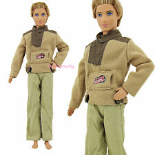 Handmade Casual Sports Outfit Clothes Jacket Pants Pullovers For Barbie Ken Doll