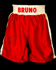 *New* Frank Bruno Signed Custom Made Boxing Trunks
