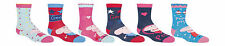 Peppa Pig -6 Pair Pack of George Cotton Rich Girls Boys Socks Size 3-5, 1-2Years