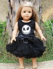 "18"" American Girl Doll Nightmare Before Christmas Jack Tutu Outfit Party Dress"