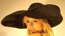 Campbell Cooper New Summer Holiday Garden Party Sun Small Brim Floppy Hat Black