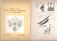 REVUE DE SOCIETE D ETUDES FOLKLORIQUES DU SUD OUEST N° 131 1985  AGUIANE SUBIET