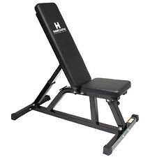 HARDCASTLE BODYBUILDING ADJUSTABLE FLAT/INCLINE HOME GYM WEIGHT LIFTING BENCH