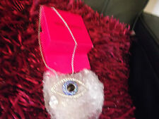 BUTLER AND WILSON NECKLACE EYE MEDIUM WITH SWAROVSKI CRYSTALS