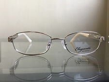 bagsclothesetc: NEW with DEFECT ELEGANTE Eyewear Women's Gold Eyeglass Frames