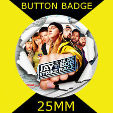 JAY AND SILENT BOB - 25mm Button Badge -D PIn - Cult Tv and Film #4S
