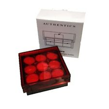Authentics Lumiere Acrylic Votive Tealight Storage Box with 18 Tealight Candles