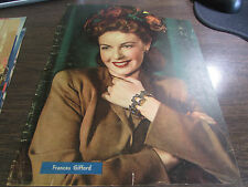 VINTAGE - FRANCIS GIFFORD - ORIGINAL  COLOR PAGE - VERY GOOD