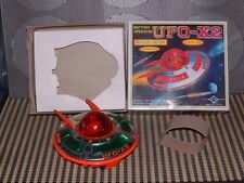 DAIYA VINTAGE B/O, TIN & PLASTIC UFO-X2 SPACE SHIP PERFECTLY WORKING W/BOX!