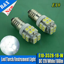 2pcs Lamp LED Bulb 12V Volt White 3528 20SMD 200LM MES E10 1447 Screw for Torch
