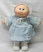 1982 Cabbage Patch Kids Bald Baby Girl Preemie DOLL Blue Eyes Original Outfit