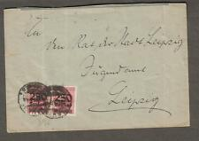 2-10-1923 inflation period cover Germany Plauen to Leipzig 10 x 250 Tausend