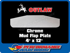 "TRUCK CHROME STEEL BOTTOM MUD FLAP PLATE 4"" x 12"" TRUCK RIG USA"