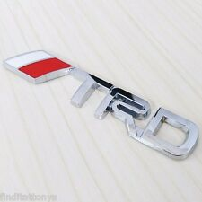 3D badge Toyota TRD Rear Emblem Car Decal Logo Sticker Chrome NEW