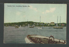 1920s HARBOR VIEW BOOTHBAY HARBOR ME POSTCARD