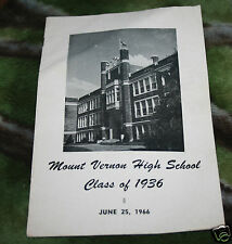 Mount Vernon High School Class of 1936 Mount Vernon Washington Reunion