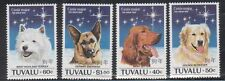 Tuvalu 662-65 Dogs Mint NH
