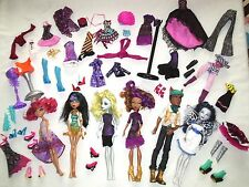 Large Group Lot of Monster High Dolls & Clothes + Extras
