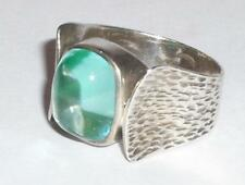 VINTAGE STERLING MODERNIST DESIGNER Y&B STERLING SILVER SIZE N RING  JEWELLERY