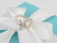 Tiffany & Co Silver Picasso XO Love Hug Kiss Ring Band Size 7 Box Included