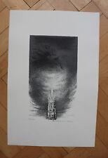 (W) Helmut Kies -Friedenstaube über Stephansdom Original Radierung-handsigniert