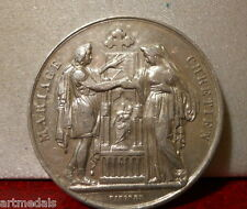 1889 Historical Silver Marriage Medal Token Christian Wedding