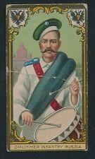 1910 T80 Tolstoi Cigarettes MILITARY SERIES -Drummer Infantry (Russia)