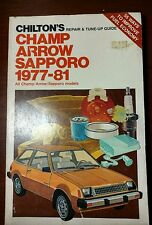 Chiltons Repair Manual 1977-1981 Mitsubishi Champ Arrow Sapporo Shop Chilton