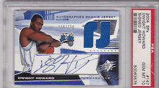 2004-05 SPX Dwight Howard RC Rookie Auto Jersey /750 PSA 10