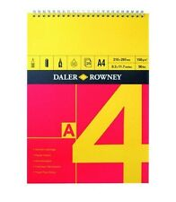 DALER ROWNEY RED AND YELLOW SPIRAL PAD - A4 (150gsm)