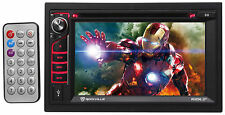 "Rockville RVD6.2 Double Din 6.2"" Car DVD/CD/Radio Player Receiver Bluetooth USB"