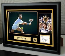 "Pat Cash Framed Canvas Signed Tribute "" Great Gift """