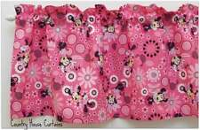 """Minnie Mouse All Over Pink Handmade Window Curtain Valance 41 1/2"""" W x 13""""L"""